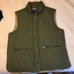J. Crew Women's Vest Green Medium
